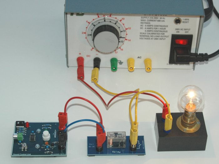Sound Contrl+Relay+Lamp